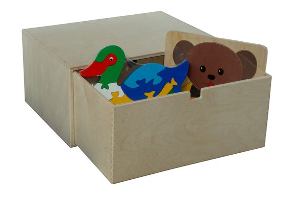 Holzkiste mit 1 großen Schubblade für diverse Sachen wie z.B. Spielzeug, zum Verstauen