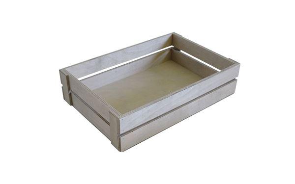 Leistenkiste grau gebeizt, ideal zum Befüllen mit den verschiedensten Utensilien. Das ideale Geschenk, da es persönlich zusammengestellt werden kann.