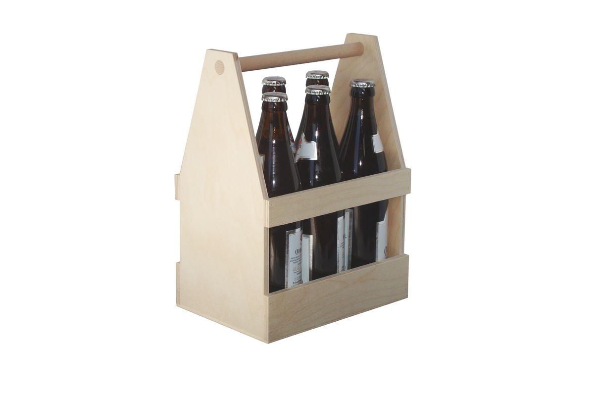 6er bierträger mit persönlicher lasergravur - weihnachtsbox und
